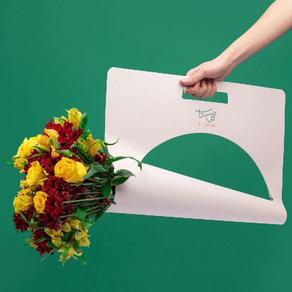 بسته بندی گل در پکیج های گل ستان در دسته گل طبیعی پاییز