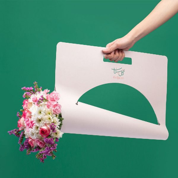 باکس دسته گل طبیعی قابل حمل برای هدیه دادن