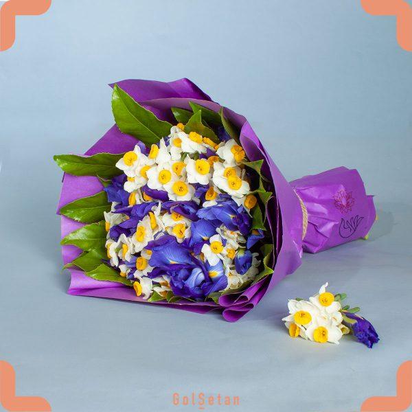 دسته گل زنبق و نرگس شیراز