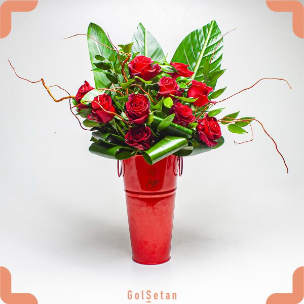 باکس گل رز فلزی