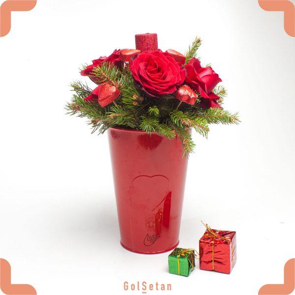 کاپ گل رز ولنتاین قرمز