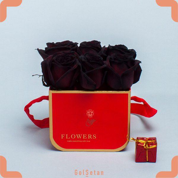 باکس گل رز مشکی