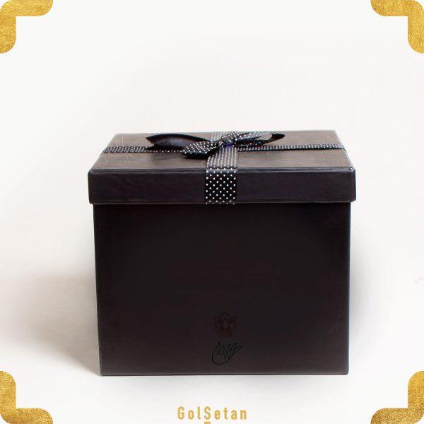 باکس قهوه با جعبه مشکی مقوایی