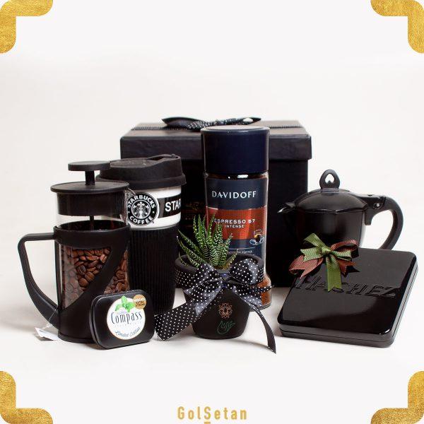 جعبه هدیه قهوه با شکلات و قهوه فوری